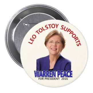 Elizabeth Warren in 2016 3 Inch Round Button