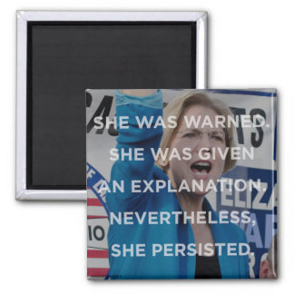 Elizabeth warren nevertheless she persisted magnet