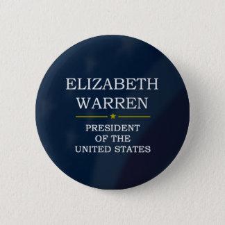 Elizabeth Warren President V3 2 Inch Round Button