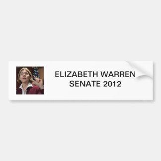 Elizabeth Warren Senate 2012 Bumper Sticker