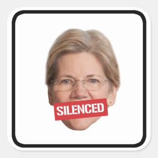 Elizabeth Warren Silenced -- Square Sticker
