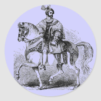 Elizabethan Costumes Round Sticker