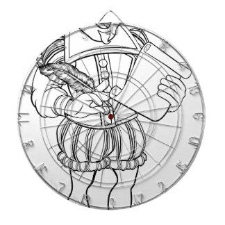 Elizabethan Shakespeare Cartoon Character Dartboard