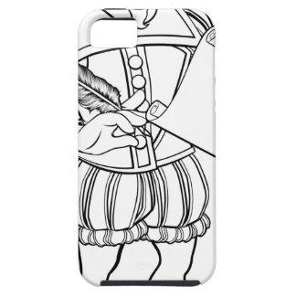 Elizabethan Shakespeare Cartoon Character iPhone 5 Case