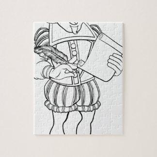 Elizabethan Shakespeare Cartoon Character Jigsaw Puzzle