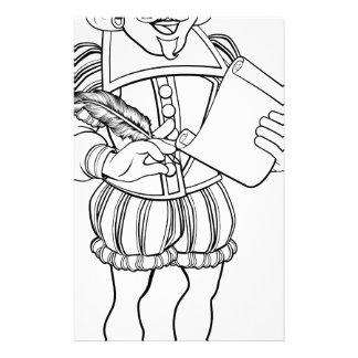 Elizabethan Shakespeare Cartoon Character Stationery