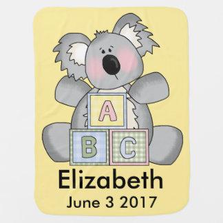 Elizabeth's Personalized Koala Baby Blanket