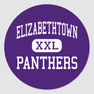 Elizabethtown - Panthers - High - Elizabethtown Classic Round Sticker