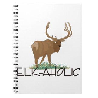 Elk-aholic Spiral Notebook