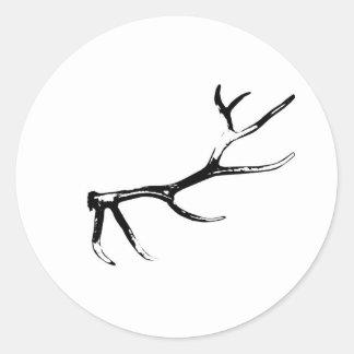 Elk Antler Classic Round Sticker
