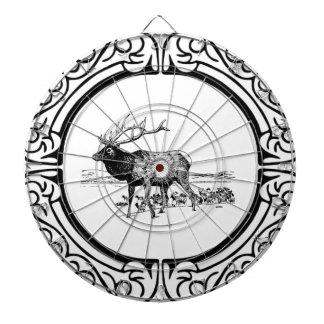 elk art in frame dartboard