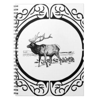 elk art in frame notebook