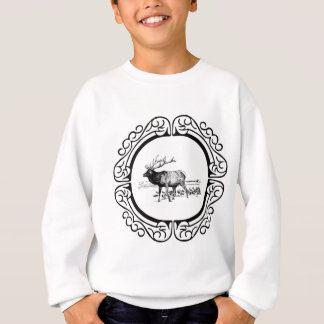 elk art in frame sweatshirt