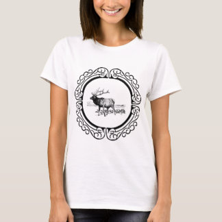 elk art in frame T-Shirt