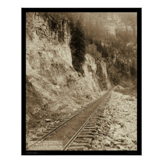 Elk Canyon On Fort Pierre Railroad SD 1890 Poster