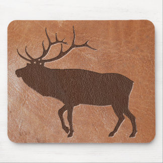 Elk Embossed Leather Mouse Pad
