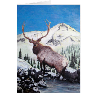 Elk Holiday Card - Customizeable