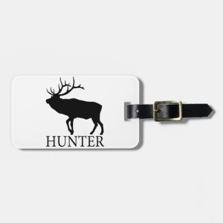 Elk Hunter Luggage Tag