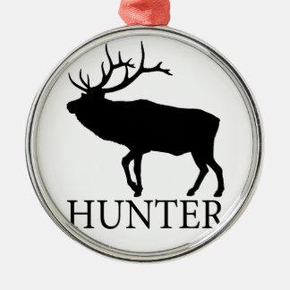 Elk Hunter Metal Ornament