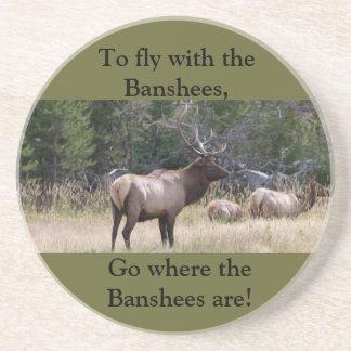 Elk Hunting Sandstone Wildlife Coaster