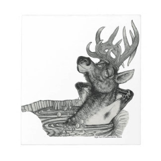 ELK IN HOT TUB NOTEPAD