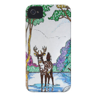 ELK IN WOODLAND iPhone 4 COVERS