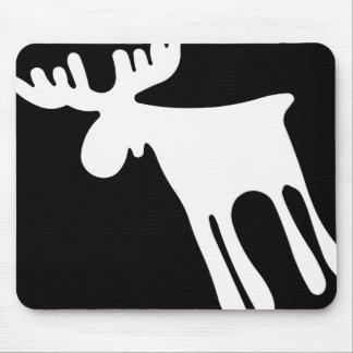 Elk/Moose, white Mouse Pad