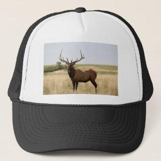 Elk on Canadian Prairies Trucker Hat