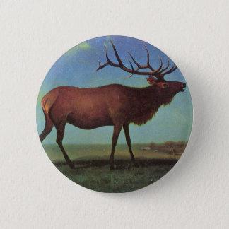Elk Painting 2 Inch Round Button
