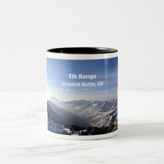 Elk Range, Crested Butte, CO Two-Tone Coffee Mug