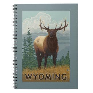 Elk SceneWyoming Spiral Note Book