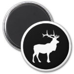 Elk Silhouette 2 Inch Round Magnet