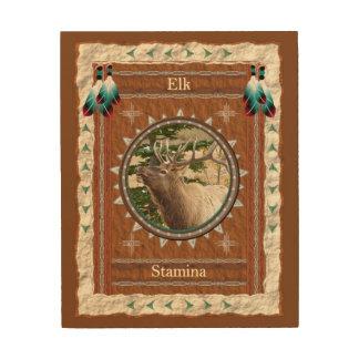 Elk  -Stamina- Wood Canvas