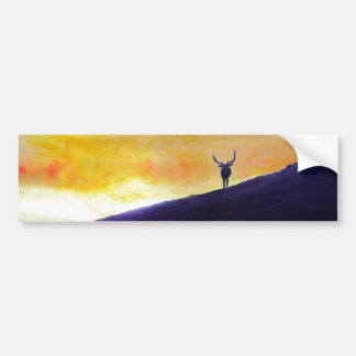 Elk Sunset Bumper Sticker