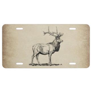 Elk Wildlife Hunting Novelty Front License Plate