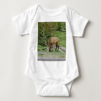 Elk With Velvet Antlers Baby Bodysuit