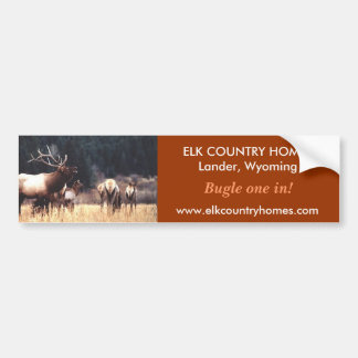 Elk, www.elkcountryhomes.com, ELK ... - Customized Bumper Sticker