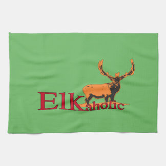 Elkaholic 2 kitchen towel