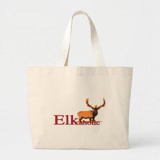 Elkaholic 2 large tote bag
