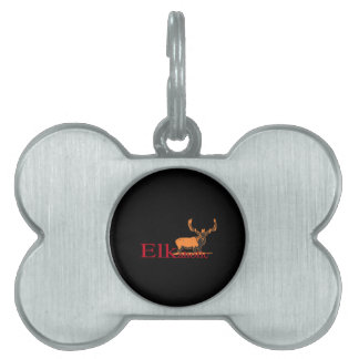 Elkaholic 2 pet name tag