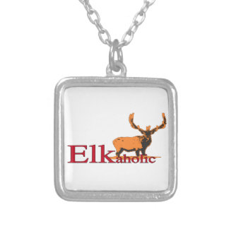 Elkaholic 2 silver plated necklace