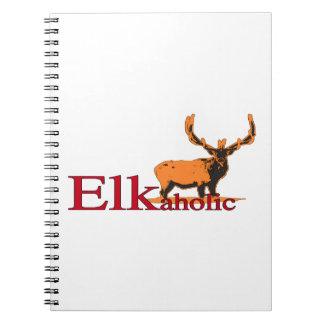 Elkaholic 2 spiral notebook
