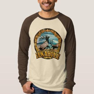 elkaholic bull elk art T-Shirt