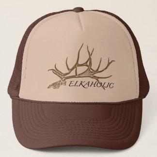 Elkaholic side view trucker hat