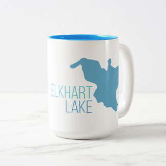 Elkhart Lake, Wisconsin Two-Tone Coffee Mug
