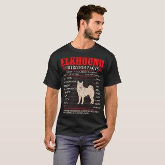 Elkhound Nutrition Facts Stubbornness Mischief Tee
