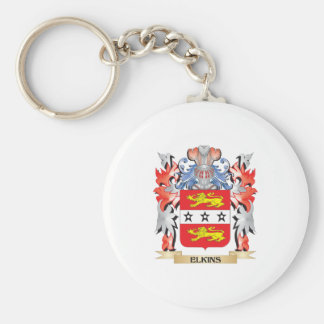 Elkins Coat of Arms - Family Crest Basic Round Button Keychain