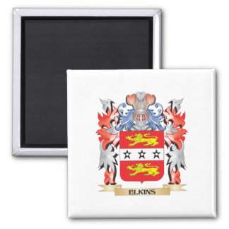 Elkins Coat of Arms - Family Crest Square Magnet