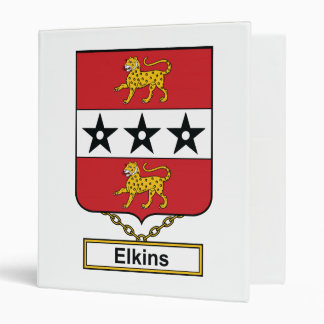 Elkins Family Crest 3 Ring Binders