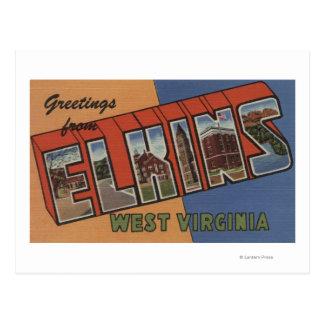 Elkins, West Virginia - Large Letter Scenes Postcard